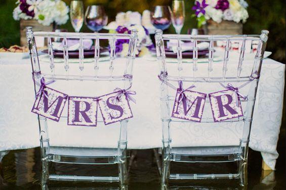 Mariage thème violet 2