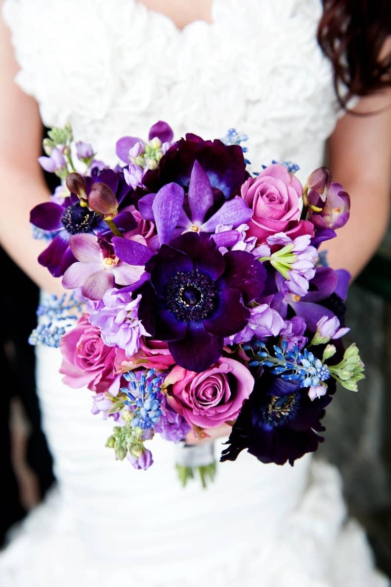 Mariage thème violet 20