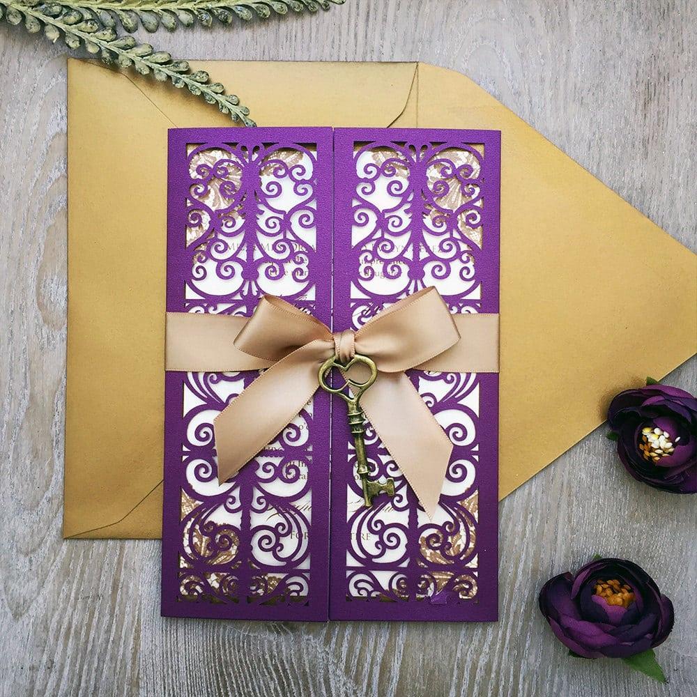 Mariage thème violet 28