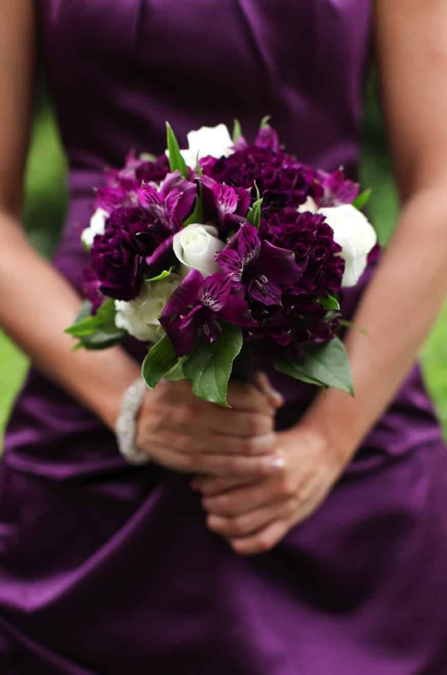 Mariage thème violet 3