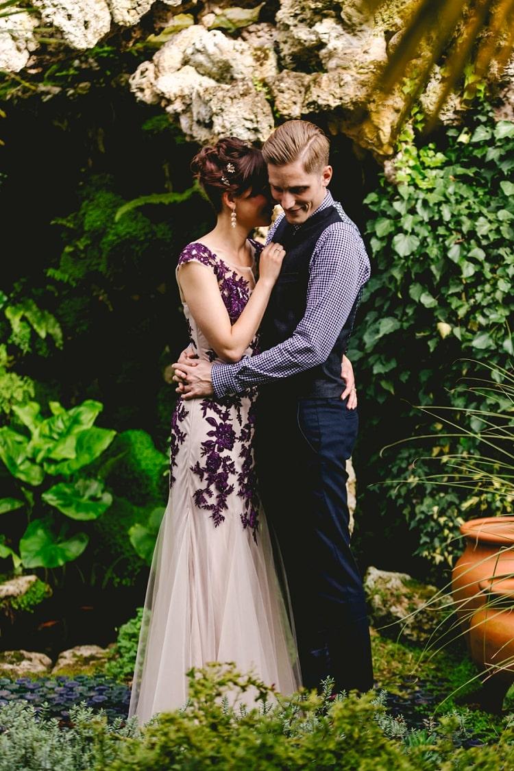 Mariage thème violet 5