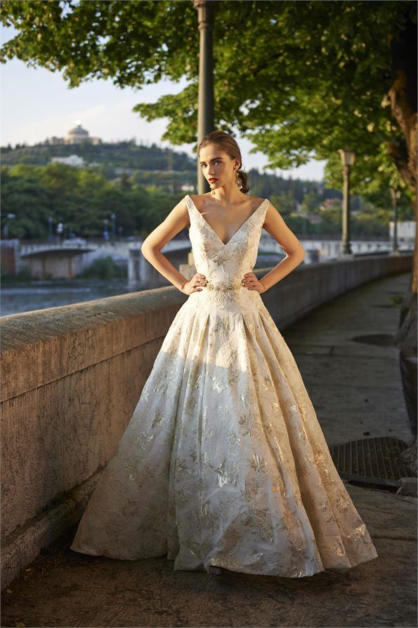 Robe de mariée dorée - Modèle Octavia - Stéphanie Allin Couture