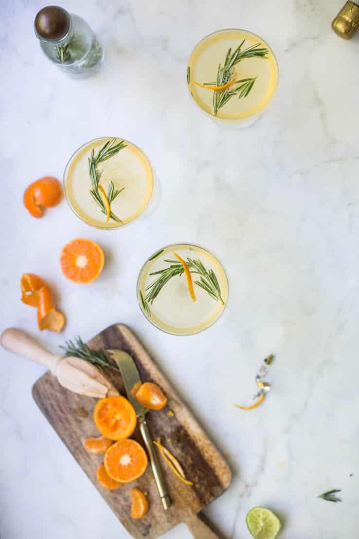 cocktail ingrédient prosecco clémentine