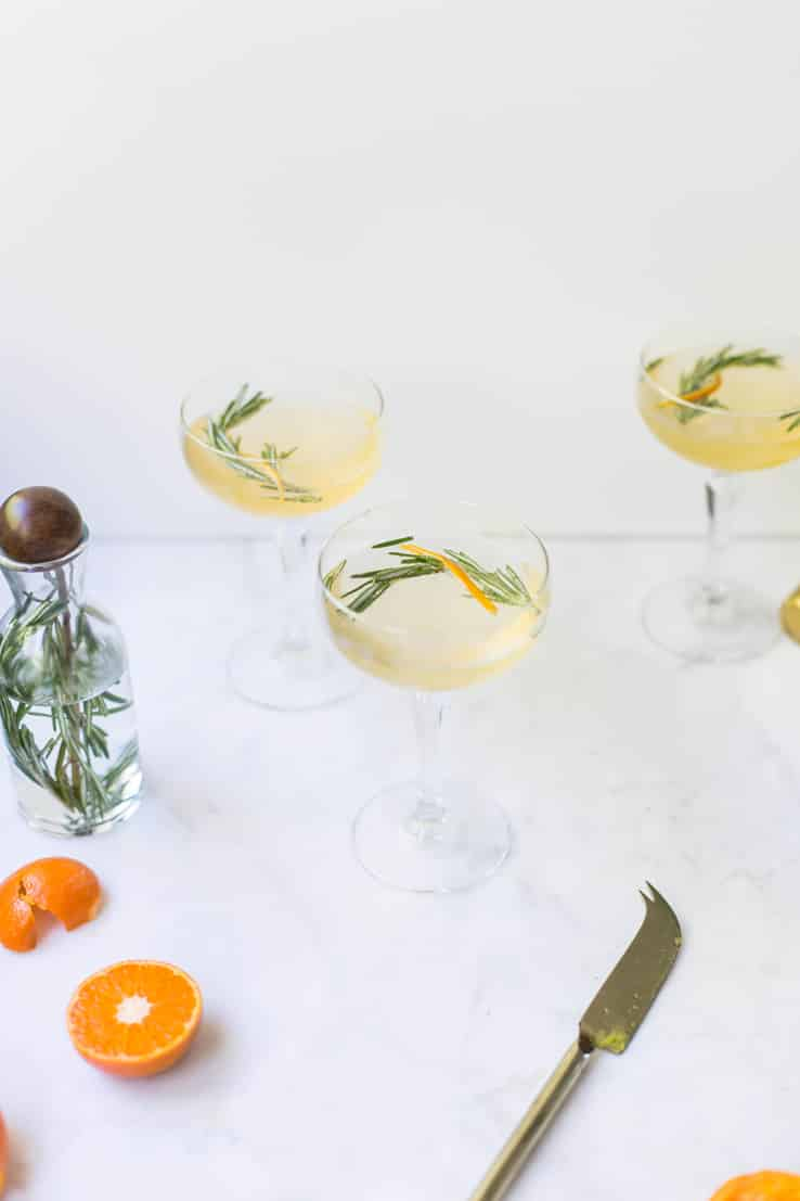 cocktail prosecco clémentine