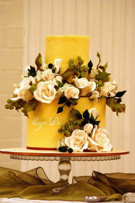 Mariage thème jaune curry 12