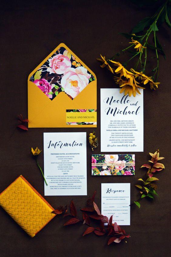 Mariage thème jaune curry 8