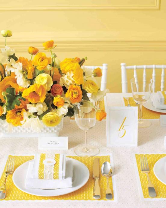Mariage thème jaune curry 9