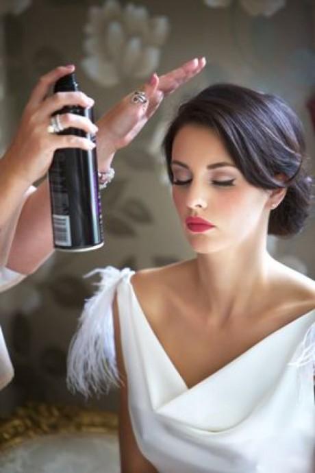 Mise en beauté de la mariée 1