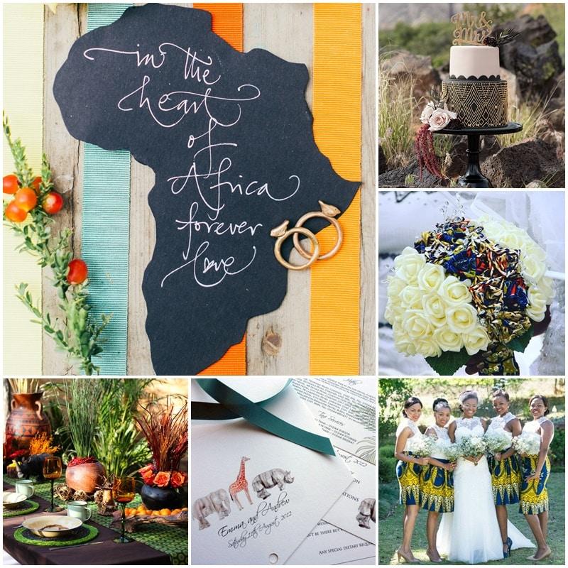 Planche Mariage thème Afrique