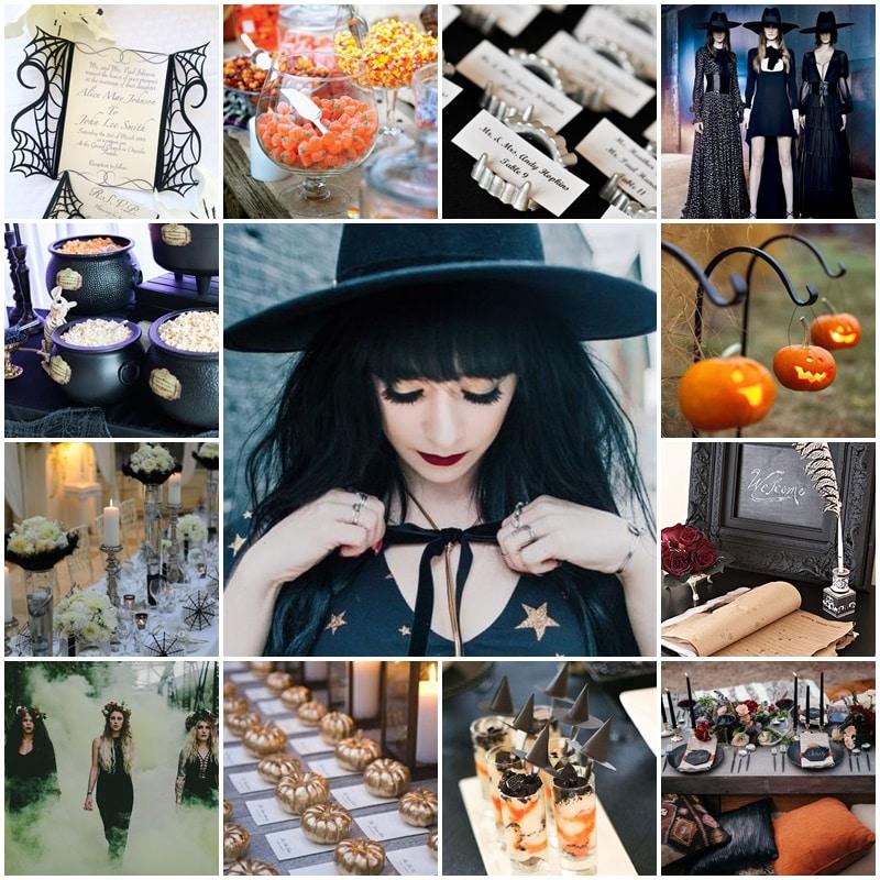 Planche Bridal shower aux couleurs d'halloween