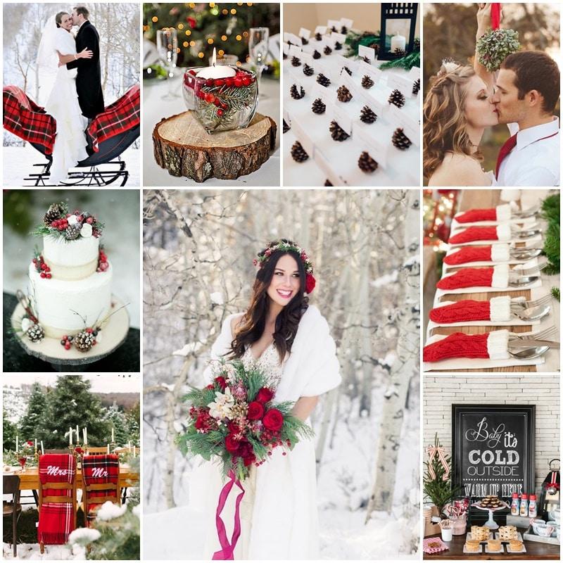 Planche mon mariage au coeur de Noel en rouge et blanc