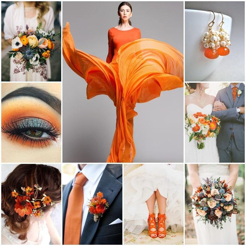 Planche mon mariage dans les oranges