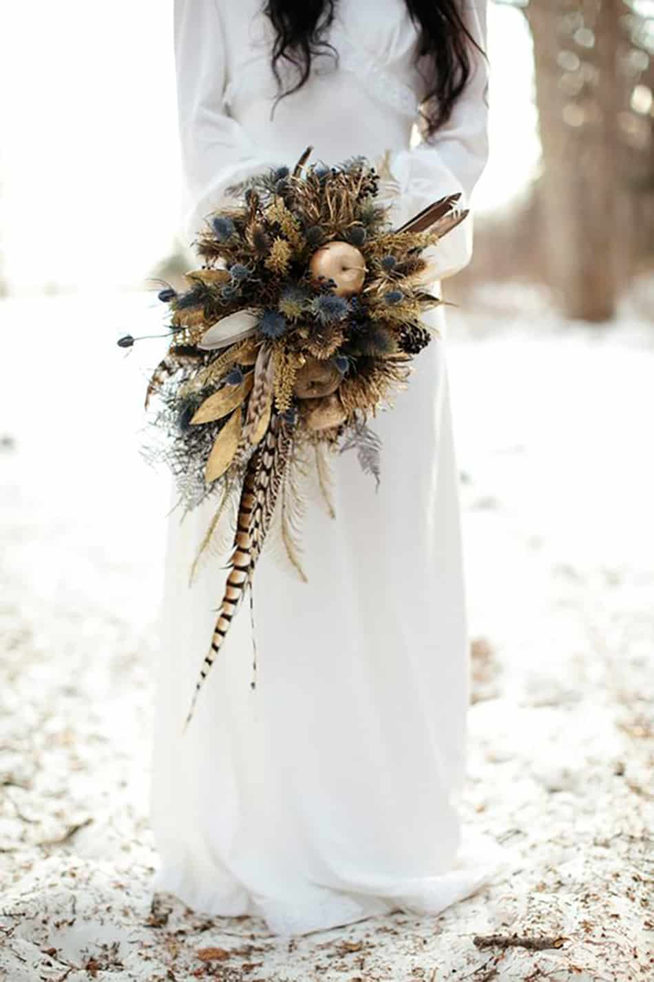 Mariage boheme et naturel au coeur de l'hiver 4