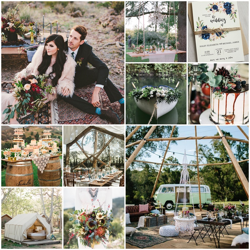 Planche mariage esprit glamping