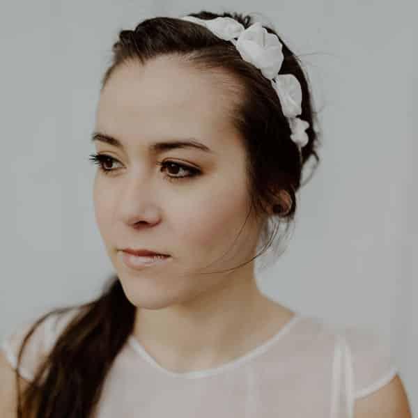 Headband floral asymétrique