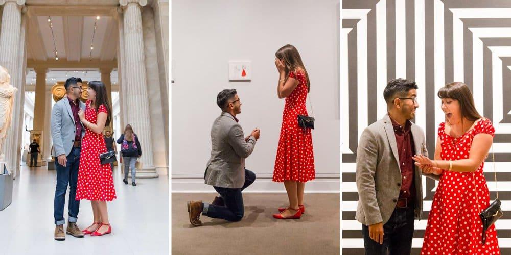 demande en mariage au musee