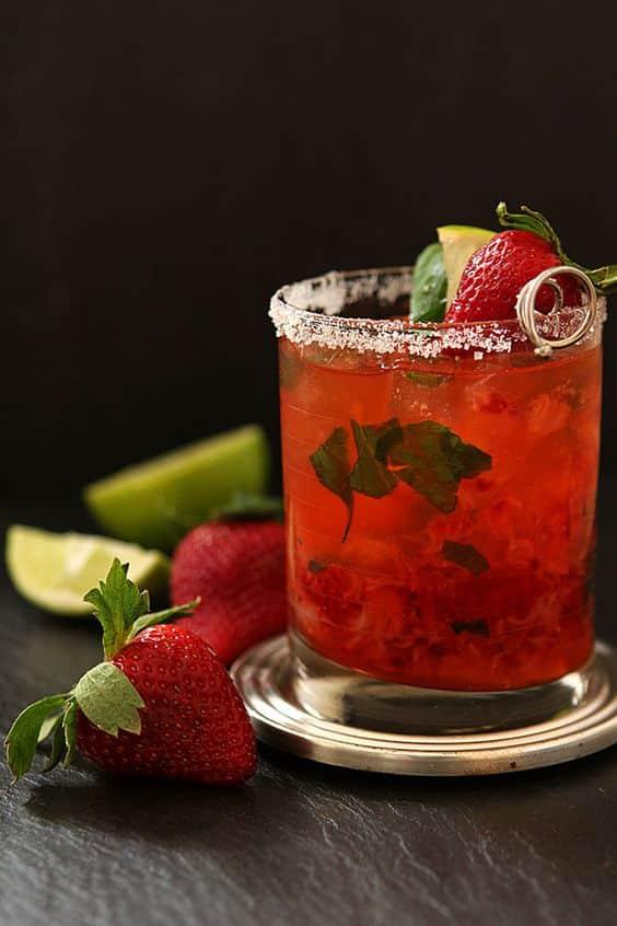 margarita-vin d'honneur-mariage-fraises