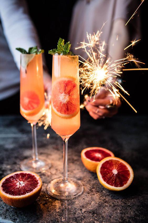 cocktail de mariage au prosecco-spritz
