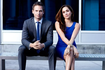 Patrick J. Adams and Meghan Markle