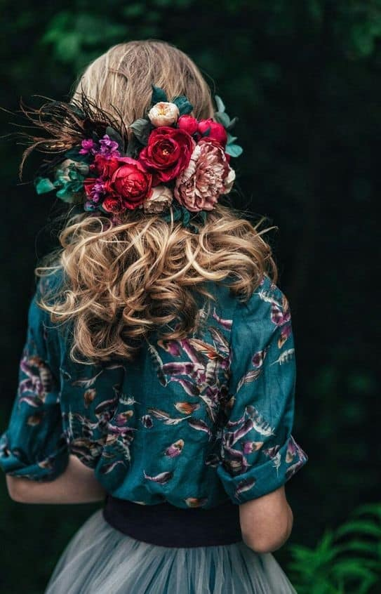 mariage peace and love-coiffure