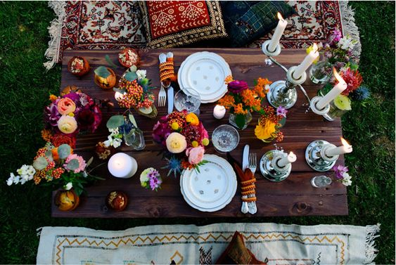 mariage peace and love-table