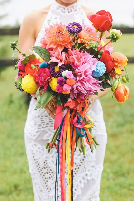 mariage peace and love-bouquet