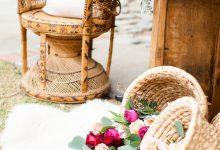 10 manières tendance d'utiliser l'osier pour décorer votre mariage