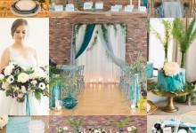 Touches bleutées et verdoyantes pour un mariage plein de douceur