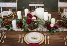 Que serait un mariage décoré et teinté de notes bordeaux ?