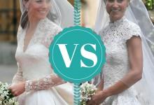 Pippa Middleton vs Kate Middleton, quelle robe de mariée préférez-vous ?