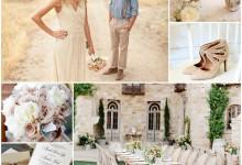 Le beige comme thématique couleur pour un mariage raffiné et nature, ça donne quoi ?