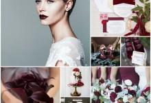 Mon mariage couleur bordeaux : place à une ambiance glamour et sensuelle