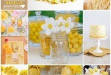Le soleil s'invite dans la décoration joyeuse de votre bridal shower !