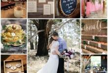 Un mariage rustique et boisé, le thème idéal pour une réception chaleureuse