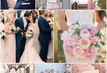 Un mariage couleur rose pâle plein de douceur, ça donne quoi ?