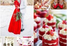 Voir la vie en rouge passion : serait-ce le thème de votre futur mariage ?