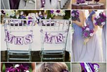 Le violet pour un mariage coloré et punchy, on valide !