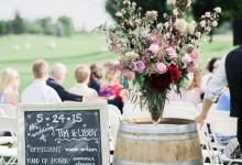 10 idées décoration de mariage rustique qui vont vous faire adorer les tonneaux