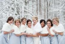 8 façons d'habiller vos demoiselles d'honneur cet hiver