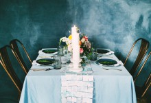 DIY mariage : comment réaliser un chemin de table esprit mosaïque ?