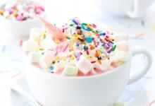 Boisson  féerique   pour une bridal shower : «le chocolat chaud licorne» !