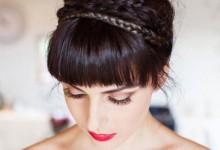 10 coiffures de mariée tendance pour celles qui portent la frange
