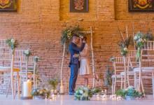 Cuivre et touches bleu pour un mariage empreint de douceur et de modernité