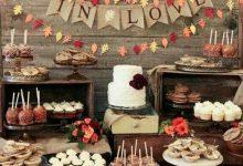 10 idées pour garnir une table de desserts pour un mariage d'automne