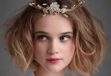 15 coiffures qui donenront le sourire aux mariées qui ont les cheveux courts