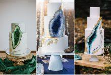 10 geode cakes à déguster au repas de mariage qui charmeront les amoureux des pierres précieuses