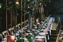 10 idées de décoration de mariée complètement cuivrées