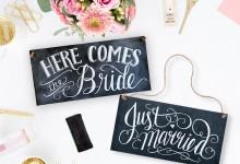 10 décorations de mariage qui vont vous faire aimer l'ardoise