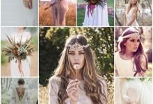 La mariée précieuse et sauvage, la nouvelle tendance bohème chic 2017