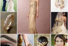 Mon incroyable tenue de mariée et ses éblouissantes touches d'or